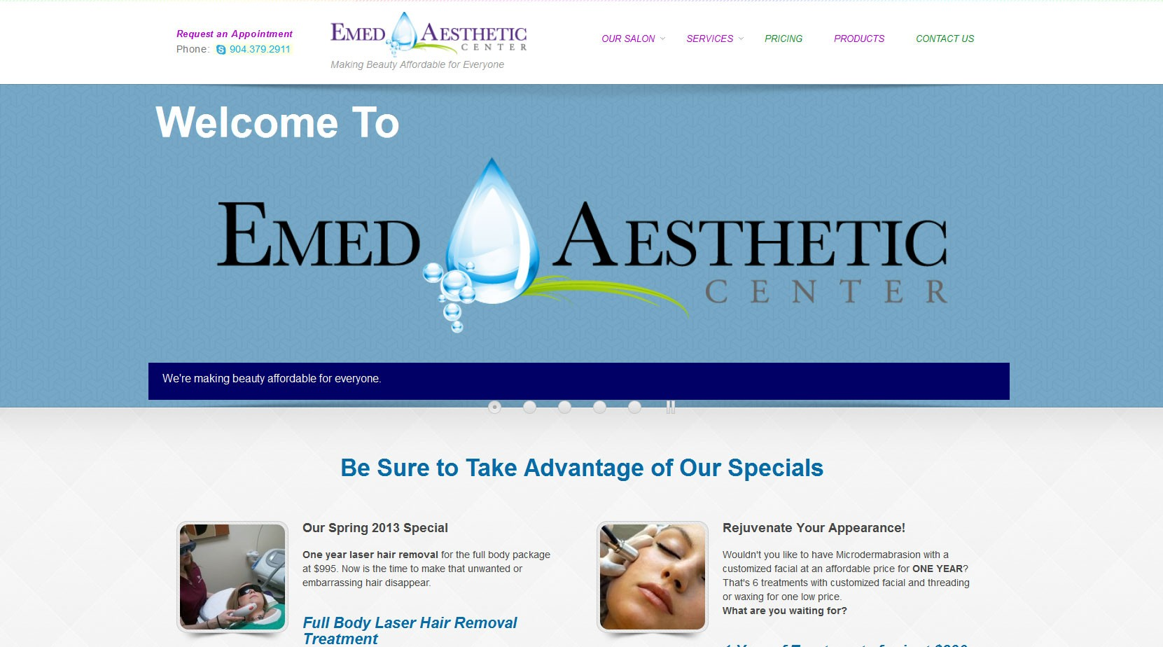 Emed Aesthetic Center Web Site