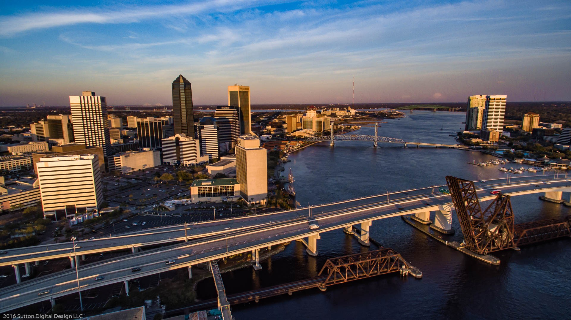 Downtown Jacksonville during the golden hour