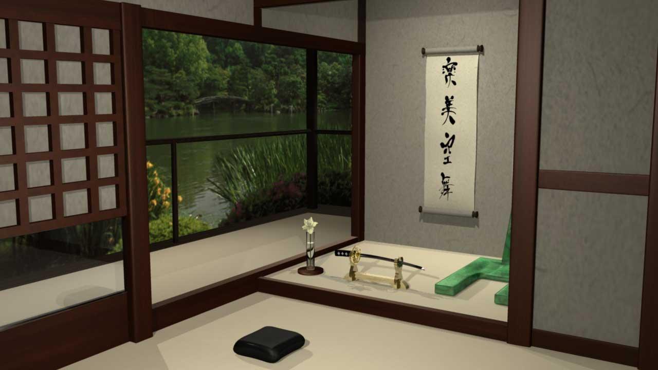 3D Sumarai House Model