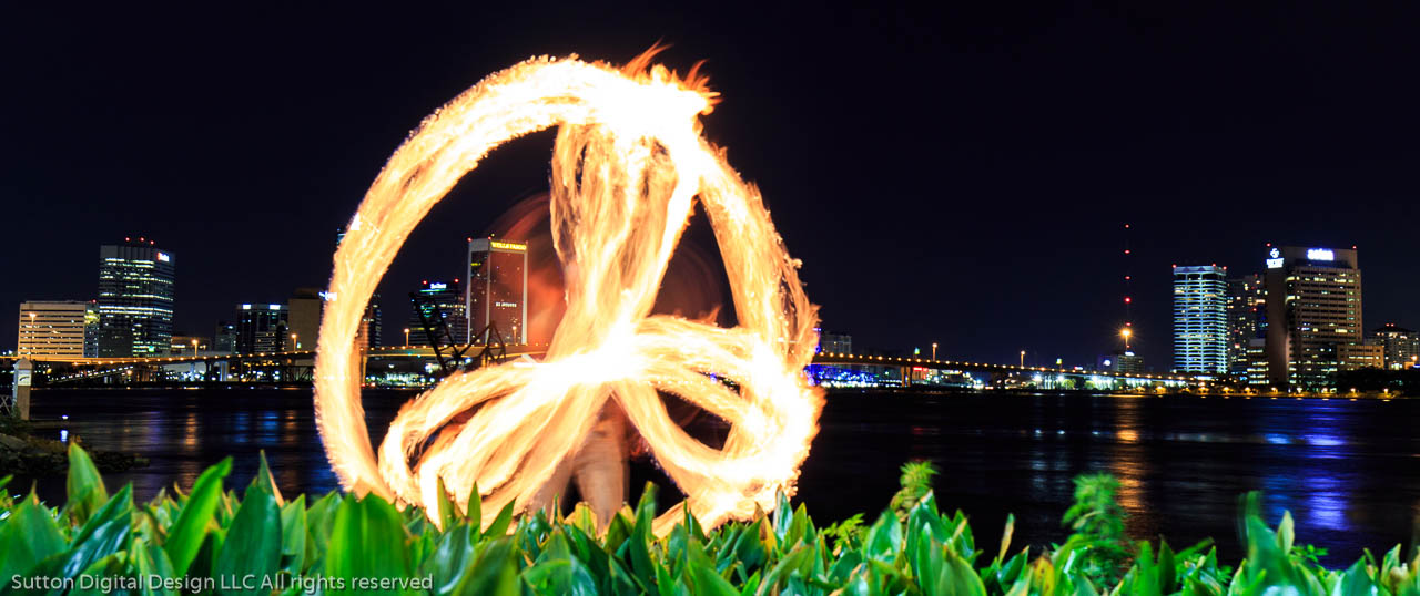 Poi Fire Spinning